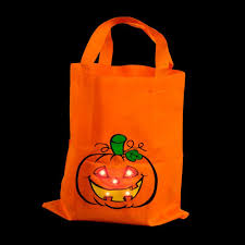 halloween pumpkin light amazon com light up canvas halloween trick or treat bag toys u0026 games