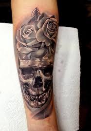 forearm skull tattoos skull with roses forearm tattoo tattoos book