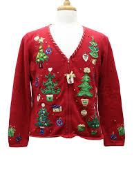womens ugly christmas cardigan sweater tiara international