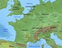 Geographical Map Western Europe Physical Map New Geographical Of Roundtripticket Me