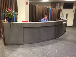 Concrete Reception Desk by Liberty Mutual South Lobby Portsmouth Nh The Refinery