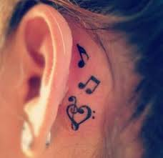 70 pretty the ear tattoos note notes and