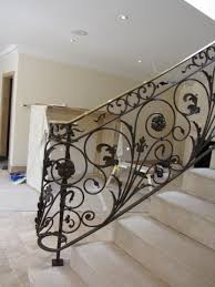 Metal Banisters Banisters Wooden Banisters With White Posts On A Carpeted