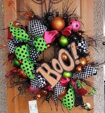 Fall Halloween Wreaths by Spooky Halloween Door Wreaths Designs Decorating Kopyok Interior
