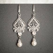 and pearl chandelier best 25 bridal chandelier earrings ideas on deco