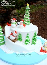Christmas Cake Decorations Pinterest by Best 25 Snowman Cake Ideas On Pinterest Christmas Cakes