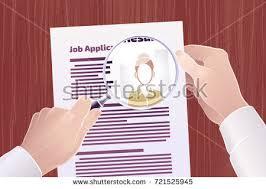 Job Application Resume Job Applicationresume Search Vector Illustration On Stock Vector