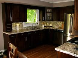 wood floors in kitchen with dark cabinets perfect home design