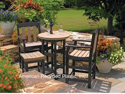 patio furniture seashore counter height dining chair recycled plastic