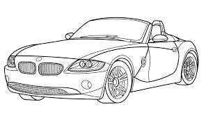 a colorier voiture de sport