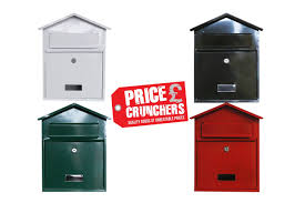 Diy Wall Mount Mailbox Lockable Steel Wall Mounted Mailbox Postbox Letterbox Secure