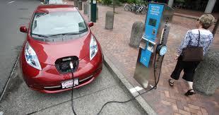 nissan leaf jump start electric cars await jump start in nj