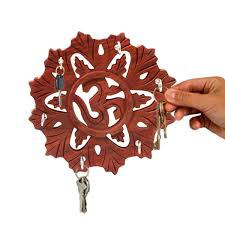 Key Holder Wall by Wooden Om Design Round Key Holder Key Holder For Wall Wall