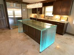 glass kitchen island glass island contemporary kitchen ta by downing designs