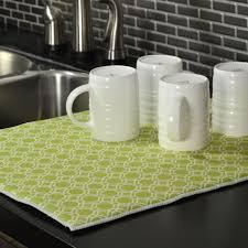 kitchen drying mat harman geo pattern reversible dish drying mat apple green