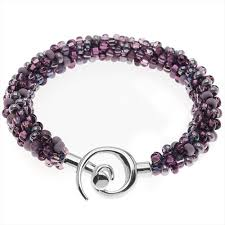 beaded kumihimo bracelet purple tones exclusive beadaholique