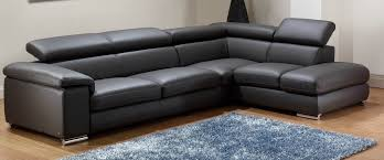 Living Room Black Leather Sofa L Shaped Couches Modern Furniture Shelter Home Sectional Leather