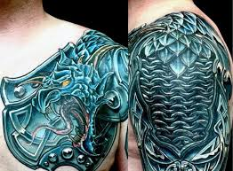 dragon celtic shoulder armor tattoo for men tats pinterest