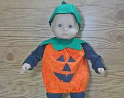Infant Halloween Costumes Pumpkin Baby Doll Costume Etsy