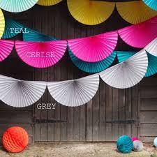 paper fan decorations paper fan bunting garlands by boase ltd notonthehighstreet