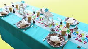 table enfant mariage décoration de table entre terre et mer version enfants