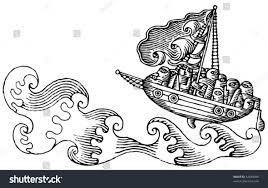 wild sea ship drama drawing black stock vector 42648508 shutterstock