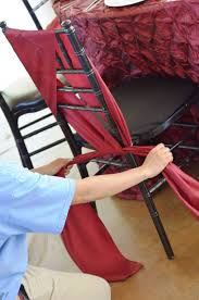 diy chair sashes chair sash tutorial