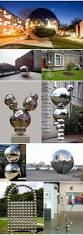 Gazing Balls For Gardens 4cm To 40cm Stainless Steel Garden Gazing Ball Silver Blue Red