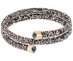 bangle bracelet color gold plated images Crystaldust double bangle multi colored rose gold plating jpg