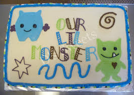 lil monster theme sheet cake d u0027s sweets pinterest monsters
