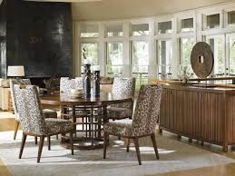 Zebra Print Dining Room Chairs Tommy Bahama Home Island Fusion Hermes Reef Glass End Table With