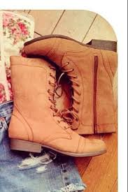 light brown combat boots shoes boots girly combat boots winter tan pretty