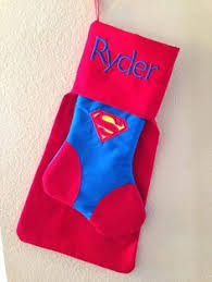 superman christmas stocking superhero character justice league
