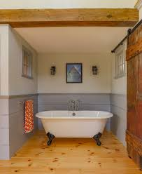 Rustic Farmhouse Bathroom - great choices of fancy colors for a small bathroom u2013 decohoms
