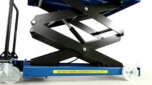 Scissor Lift Tables Bigdug Heavy Duty Double Scissor Lift Table Product Video Youtube