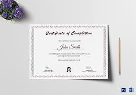 graduation diploma completion certificate design template in psd word