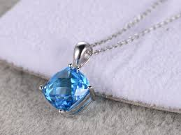 natural topaz necklace images 4 15ct natural topaz pendant 14k white gold cusion cut blue stone jpg