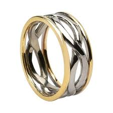 mens infinity wedding band infinity knot wedding rings made in ireland