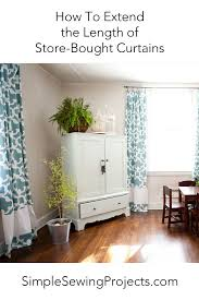 Curtains And Drapes Ideas Decor How To Extend The Length Of Store Bought Curtains Store Diy