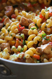 Mexican Pasta Salad One Pot Chicken Fajita Pasta Skinnytaste