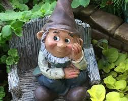 Gnome Garden Decor Gnome Figurine Etsy