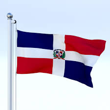 Flag Of The Dominican Republic Animated Dominican Republic Flag 3d Model