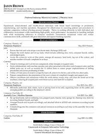 Manufacturing Resume Templates Download Production Manager Resume Haadyaooverbayresort Com