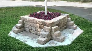 block flagpole planter menards youtube