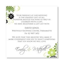 gift registry for wedding wedding invitation wording no registry wedding gift