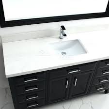 gazette 60 in vanity cabinet only in white with center bowl design