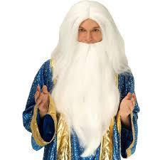beard halloween costumes amazon com white wizard wig u0026 beard clothing