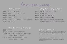 haircut express prices hair and nail services