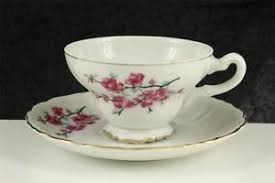 vintage china pattern vintage china teacup cup saucer pink cherry blossom pattern made