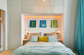 Colorful Bedroom Designs by 50 Sqm One Bedroom Apartment Interior Design Idea Home